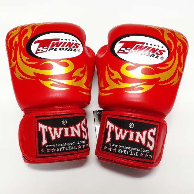 TWINS SPECIAL ボクシンググローブ 12oz T龍赤 /ボクシング/ムエタイ/グローブ/キック/フィットネス/本革製/ツインズ/大人用/オンス