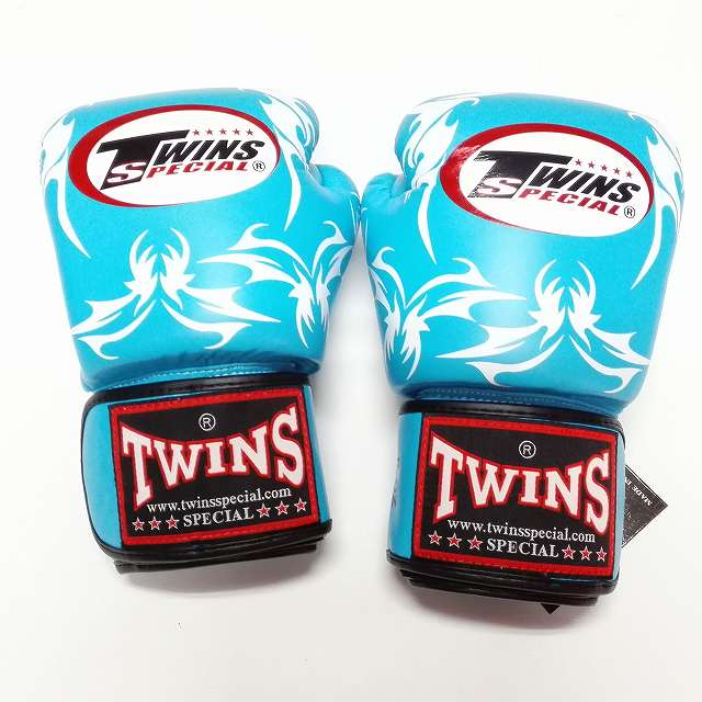 TWINS SPECIAL ボクシンググローブ 12oz トライバルBL /ボクシング/ムエタイ/グローブ/キック/フィットネス/本革製/ツインズ/大人用/オンス
