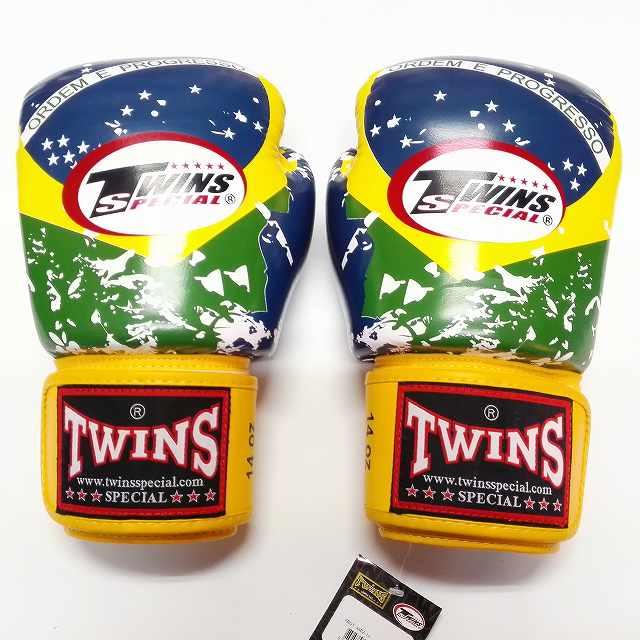 TWINS SPECIAL ボクシンググローブ 14oz ブラジル /ボクシング/ムエタイ/グローブ/キック/フィットネス/本革製/ツインズ/大人用/オンス