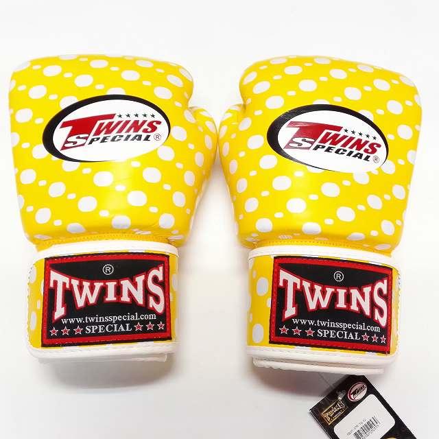 TWINS SPECIAL ボクシンググローブ 12oz 黄玉 /ボクシング/ムエタイ/グローブ/キック/フィットネス/本革製/ツインズ/大人用/12オンス