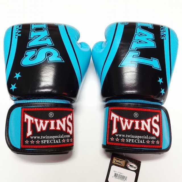TWINS SPECIAL ボクシンググローブ 14oz TW水黒SP /ボクシング/ムエタイ/グローブ/キック/フィットネス/本革製/ツインズ/大人用/14オンス