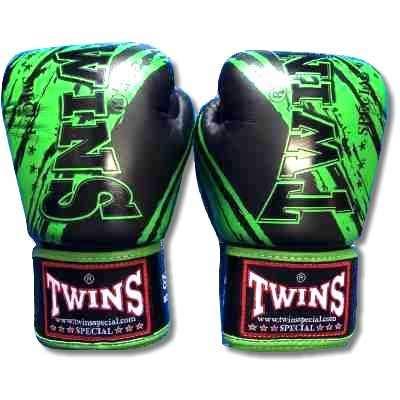 TWINS SPECIAL ボクシンググローブ 16oz TWINS黒緑 /ボクシング/ムエタイ/グローブ/キック/フィットネス/本革製/ツインズ/大人用/16オンス