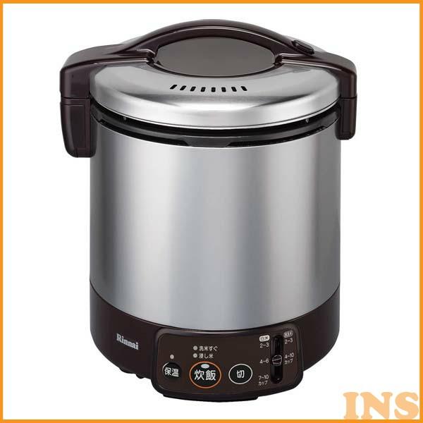 リンナイ〔RINNAI〕 ガス炊飯器 ジャー機能付き RR-100VM(DB) LPG・PLガス用 ダークブラウン (1升炊き) (炊飯器/ガス/ジャー機能)
