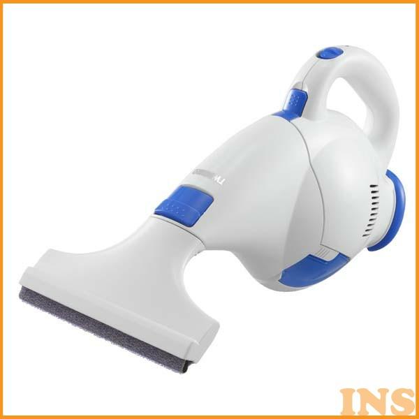 掃除機 コードレス網戸・窓クリーナー HC-E222W ホワイト (ハンディ/コードレス/サッシ/網戸/窓/ウェット/ドライ)【ツインバード(TWINBIRD)】