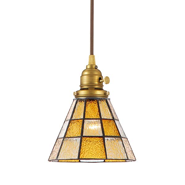 ≪送料無料≫(電球無し)ペンダントライト Stained glass-pendant Checker AW-0371Z(ステンドグラス LED アンティーク ガラス レトロ 照明 ライト ペンダント LED おしゃれ)