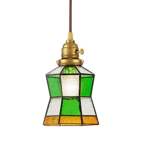 ≪送料無料≫(電球無し)ペンダントライト Stained glass-pendant Helm AW-0372Z(ステンドグラス LED アンティーク ガラス 照明 ライト レトロ ペンダント LED おしゃれ)