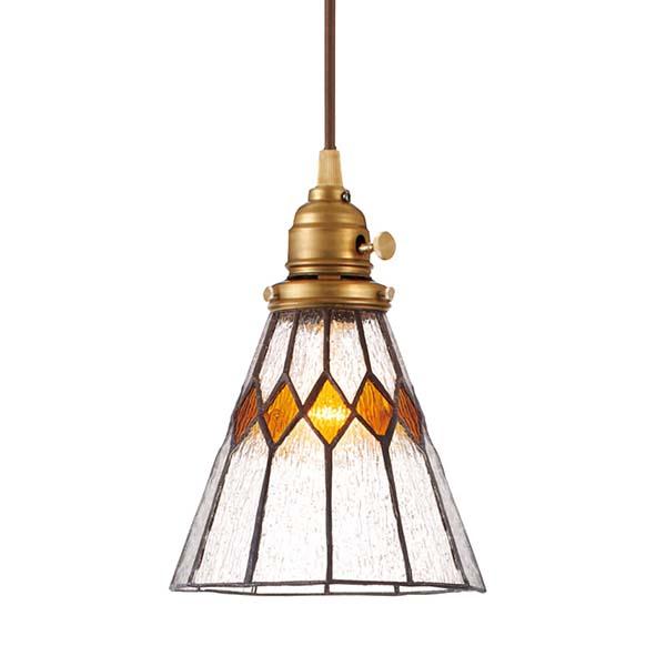 (電球無し)ペンダントライト Stained glass-pendant Break AW-0388Z(ステンドグラス LED ガラス 照明 ライト レトロ ペンダント LED )