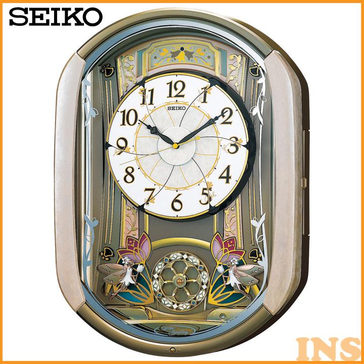 【電波時計 置時計】からくり時計【時計 ウォッチ】セイコー RE567G