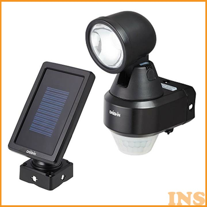 ハイブリッドLEDセンサーライト ブラック DLH-100Bセンサー付き 灯 らいと 照明 センサー付きらいと センサー付き照明 灯らいと らいとセンサー付き 照明センサー付き らいと灯 (株)大進