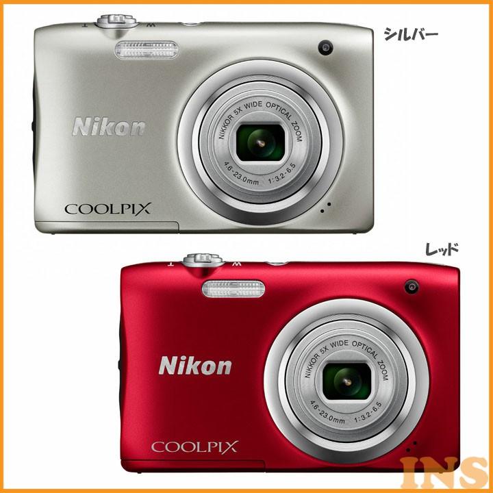 COOLPIX A100SL デジタルカメラ カメラ 写真 デジカメ ニコン シルバー・レッド