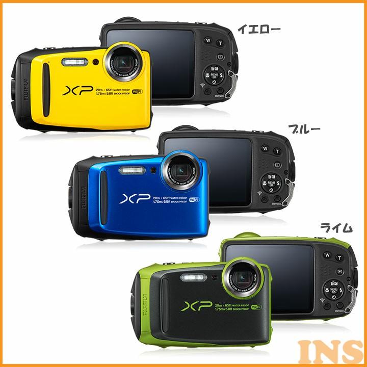 防水カメラ XP120YW デジタルカメラ カメラ 写真 防水 フジフイルム イエロー・ブルー・ライム