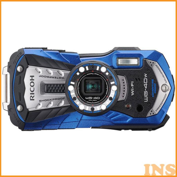 リコー 防水カメラ 特典SDHC8GB付 ブルー WG40W カメラ 防水 デジカメ デジタルカメラ デジタルカメラ 耐衝撃 耐寒 耐荷重 アウトドア 14m でじかめ でじたるかめら RICOH リコー 【D】[3ss]