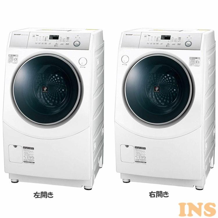 ドラム式洗濯機 10kg ES-H10C-WL ES-H10C-WR 送料無料 洗濯機 洗濯 ドラム式 左開き 右開き 10kg 家電 生活家電 SHARP シャープ 左開き 右開き【D】