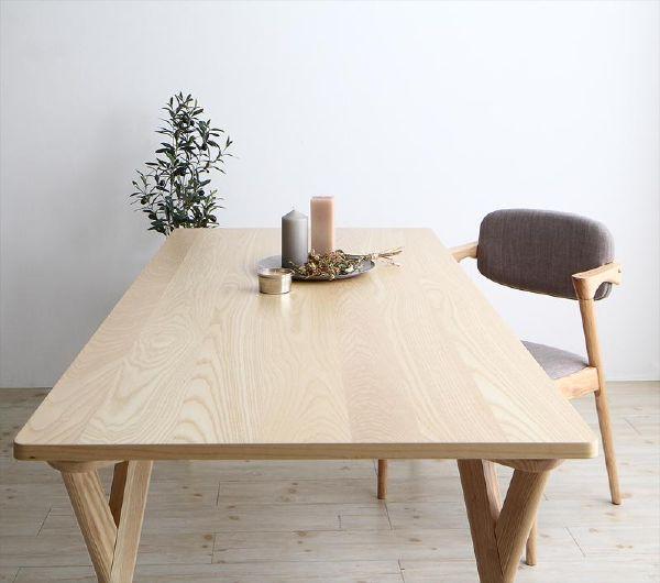【スーパーSALE 2,000円OFFクーポン】 北欧ナチュラルモダンデザイン天然木ダイニング Wors ヴォルス ダイニングテーブル W170 (UF1)