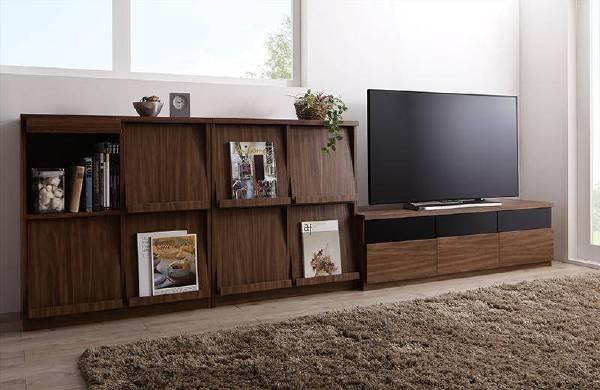(UF)リビングボードが選べるテレビ台シリーズ TV-line テレビライン 3点セット(テレビボード+フラップチェスト×2) 幅140  (UF1)