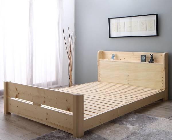 (UF) ローからハイまで高さが変えられる6段階高さ調節 頑丈天然木すのこベッド ishuruto イシュルト ベッドフレームのみ ダブル (UF1)