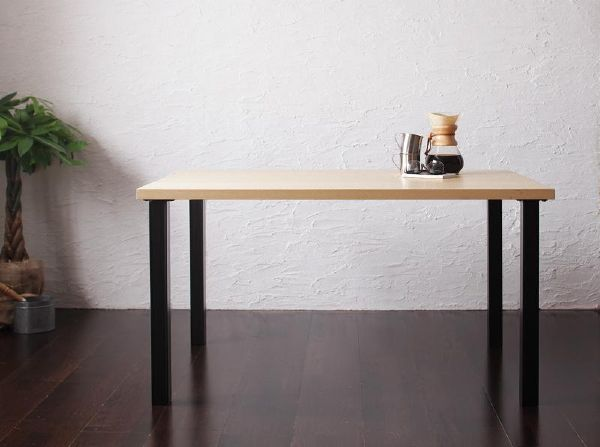 (UL)モダンカフェ風リビングダイニング BARIST バリスト ダイニングテーブル W120(UL1)