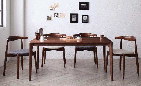 (UL) 新生活応援 ダイニングテーブル 北欧風 ファミリー モダン デザイナーズ 天然木 北欧デザイン 北欧デザイナーズダイニング Spremate シュプリメイト/5点Aセット(テーブル+チェアA×4)  【初売り】