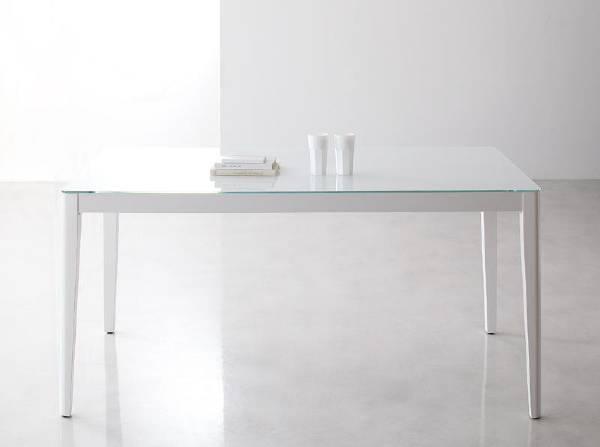 (UL) 新生活応援 ダイニングテーブル ハイグレードガラスダイニング Placidez プラシデス テーブル(グロッシーホワイト) (UL1)