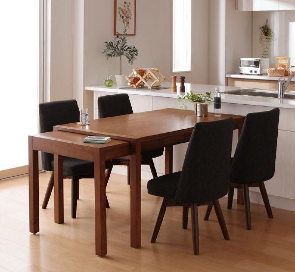 (UL) 新生活応援 ダイニングテーブル スライドテーブル 回転チェア スライド伸縮テーブルダイニング S-free エスフリー/5点セット(テーブル+チェア×4) (UL1)