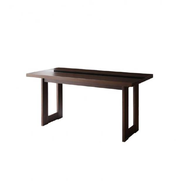 (UL)新生活応援 ダイニングテーブル アーバンモダンデザインダイニング MODERNO モデルノ/ウッド×ブラックガラスダイニングテーブル(W150)(UL1)