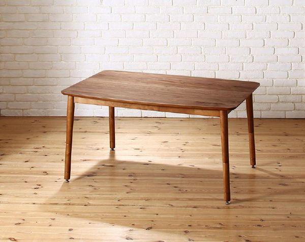 (UL) こたつもソファも高さ調節できる 収納付きリビングダイニング Sheld シェルド ダイニングこたつテーブル W120 (UL1)