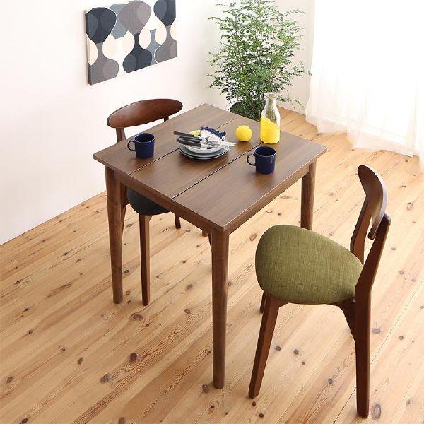 (UL) 1Kでも置ける横幅68cmコンパクトダイニング idea イデア 3点セット(テーブル+チェア2脚) ブラウン W68(UL1)