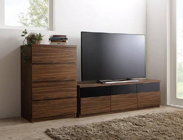 (UL)リビングボードが選べるテレビ台シリーズ TV-line テレビライン 2点セット(テレビボード+チェスト) 幅140(UL1)