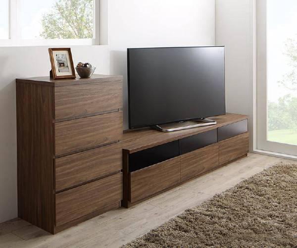 (UL)リビングボードが選べるテレビ台シリーズ TV-line テレビライン 2点セット(テレビボード+チェスト) 幅180(UL1)