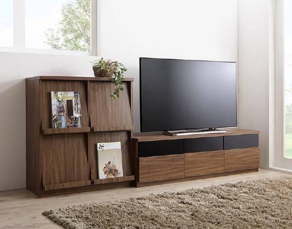 (UL) リビングボードが選べるテレビ台シリーズ TV-line テレビライン 2点セット(テレビボード+フラップチェスト) 幅140 (UL1)