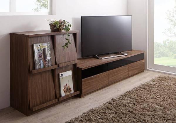 (UL)リビングボードが選べるテレビ台シリーズ TV-line テレビライン 2点セット(テレビボード+フラップチェスト) 幅180(UL1)