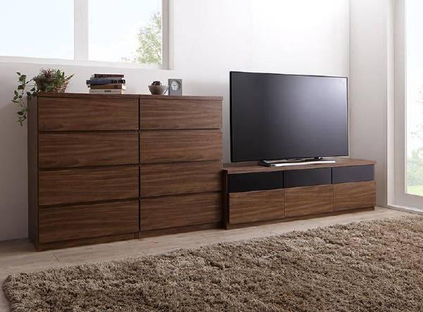 (UL)リビングボードが選べるテレビ台シリーズ TV-line テレビライン 3点セット(テレビボード+チェスト×2) 幅140(UL1)