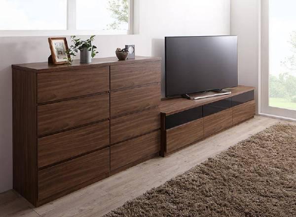 (UL)リビングボードが選べるテレビ台シリーズ TV-line テレビライン 3点セット(テレビボード+チェスト×2) 幅180(UL1)