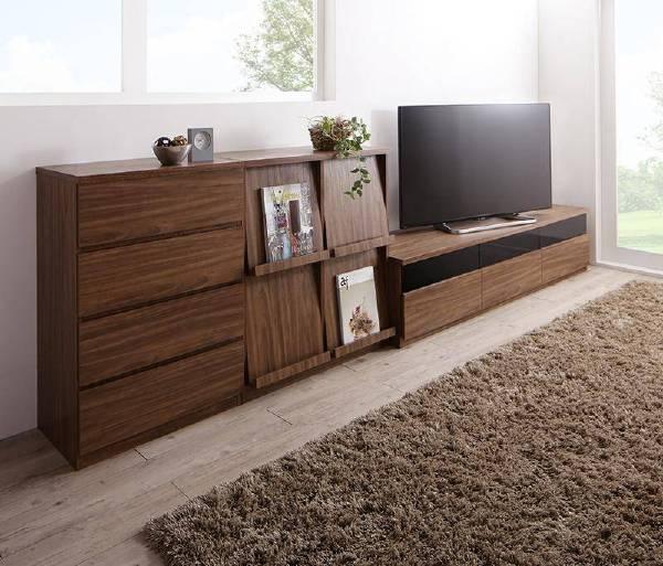 (UL)リビングボードが選べるテレビ台シリーズ TV-line テレビライン 3点セット(テレビボード+チェスト+フラップチェスト) 幅180(UL1)