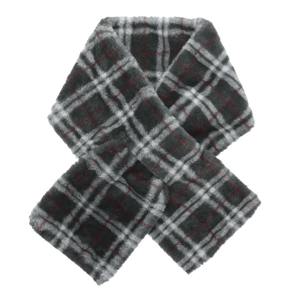 リボンのようなクロスティペット 送料無料激安祭 クロスティペット チェックファー ブラック セール 13219602070