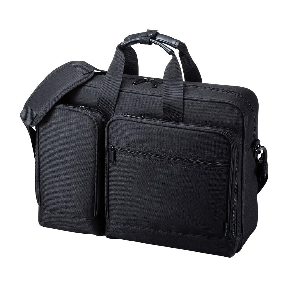 リュック、ショルダー、手提げの3WAY仕様。 3WAYビジネスバッグ BAG-3WAYT2BK