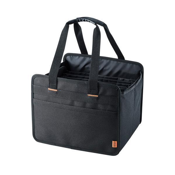 周囲はしっかりしたクッション材でタブレットを保護します。 サンワサプライ らくらくタブレットPCキャリー BAG-BOX6BK