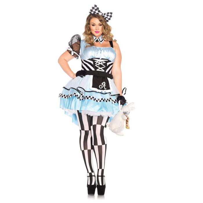 コスプレ 不思議の国のアリス (ドレス ワンピース) ハロウィン 衣装 大きいサイズ コスチューム セクシー コスプレ衣装 2点セット 仮装 大人 レディース(女性用) レッグアベニュー(legavenue 正規品) パーティー halloween 85372X◆取寄せ