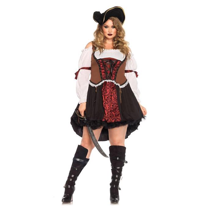 コスプレ 海賊 (パイレーツ 帽子なし) ハロウィン 衣装 大きいサイズ コスチューム セクシー コスプレ衣装 仮装 大人 レディース(女性用) レッグアベニュー(legavenue 正規品) パーティー イベント用品 販促品 halloween 85371X◆取寄せ