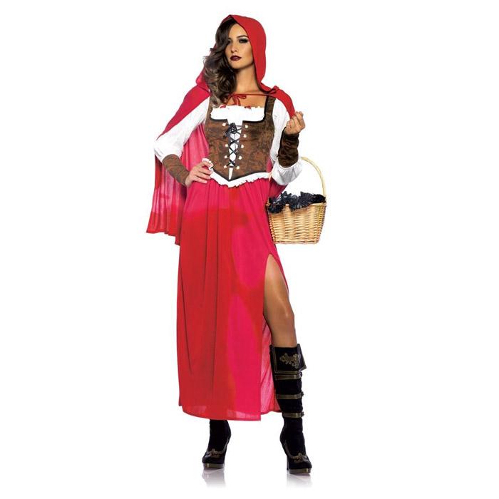 ハロウィン コスプレ 衣装 コスチューム 赤ずきん (ドレス ワンピース) 3点セット 仮装 大人 レディース(女性用) レッグアベニュー(legavenue 正規品) パーティー イベント用品 販促品 halloween 85376◆取寄せ