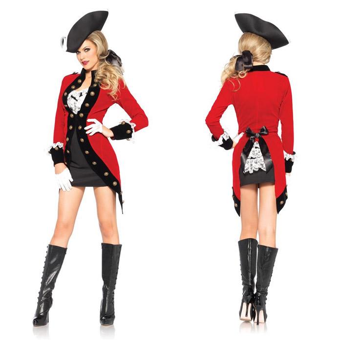 ハロウィン コスプレ 衣装 コスチューム Red Coat(英国兵風) 4点セット 仮装 大人 レディース(女性用) レッグアベニュー(legavenue 正規品) パーティー イベント用品 販促品 halloween 85386◆取寄せ