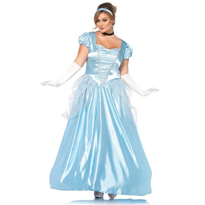 シンデレラ ドレス コスプレ 3点セット ハロウィン 衣装 仮装 コスチューム レディース 大人 大きいサイズ Leg Avenue 85518X 送料無料◆在庫処分