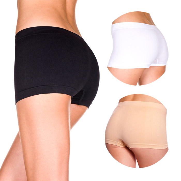 有供Music Legs美国的乐曲腿无缝钢女士服务生短裤女性使用的1分长发展的材料黑色的(黑色)白色的(白)浅驼色(肤色)内部内衣夜服装女子的内部箱短裤服务生腿