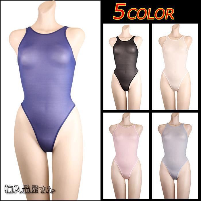 型体服性感游泳比赛游泳衣hairegureotadorapomu La-Pomme透明的透ke看得到型体服女士大人古装戏93948