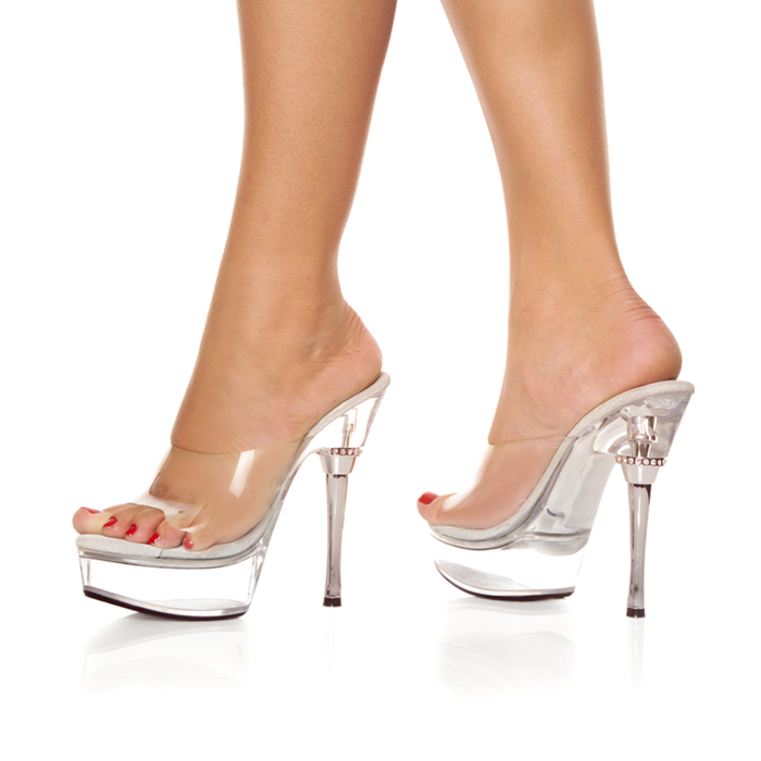 eb352797c46c5 For instant Pleaser (プリーザー) clear color thick bottom mules sandals with  Rhinestone GTS special party for women's shoes products-ALLURE-601-CLR-CLR  ...