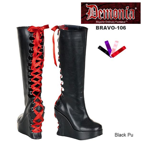 DEMONIA(デモニア) ウェッジソールブーツ BRAVO-106◆取り寄せ