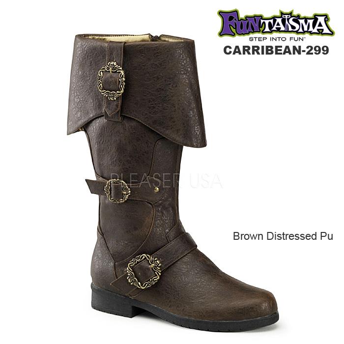 FUNTASMA Men's/パイレーツブーツ つや消し茶 CARRIBEAN-299-BROWN◆取り寄せ