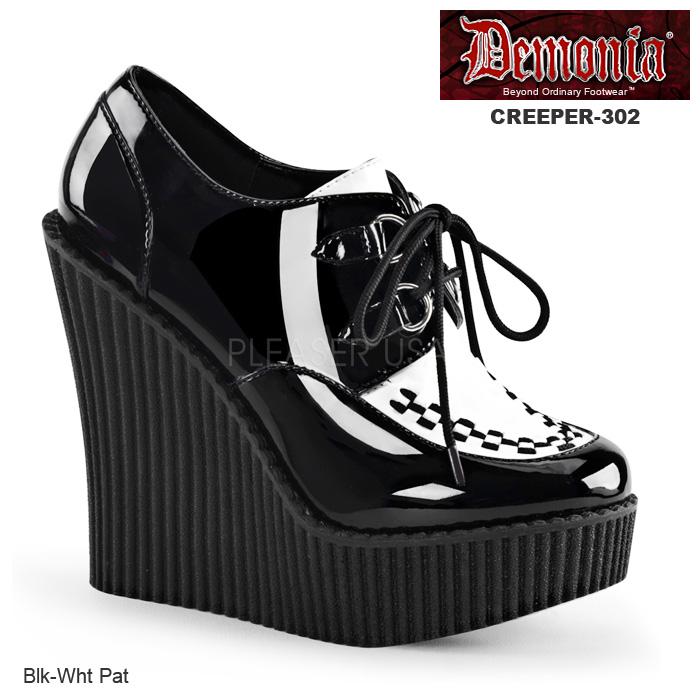 DEMONIA(デモニア) レディース ウェッジクリーパー CREEPER-302 黒/白◆取り寄せ