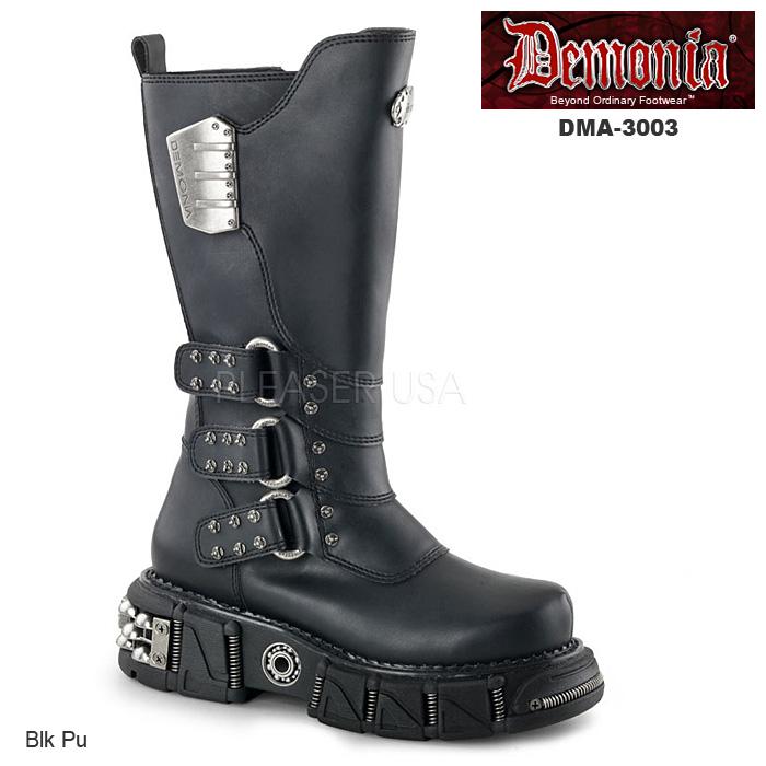 DEMONIA(デモニア) Men's/Unisex サイバーパンク ビーガンブーツ DMA-3003◆取寄せ