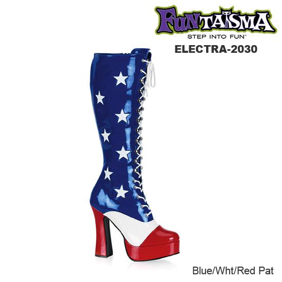 FUNTASMA 星条旗/アメリカンフラッグブーツ 編み上げロングブーツ ELECTRA-2030 ◆取り寄せ